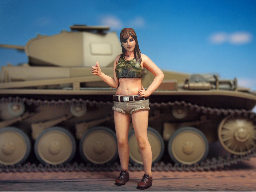 ML-080 Female Army Soldier 1/35 Aurora Model